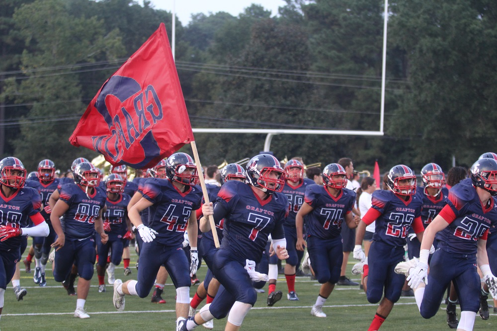 Grafton runs onto field